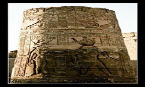 Zdjecie EGIPT / brak / Kom-Ombo / Sobek's Kom-Ombo Temple column