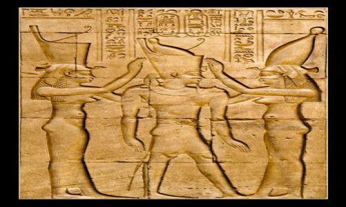 Zdjecie EGIPT / brak / Thebes / Enthronement of Two-left-hand
