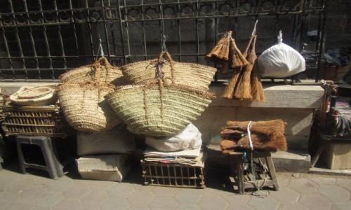 EGIPT / Kair / Stare  Miasto / Palmowe plecionki