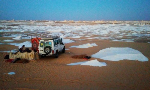EGIPT / Kair / Al Bahrija / pustynia obozowisko
