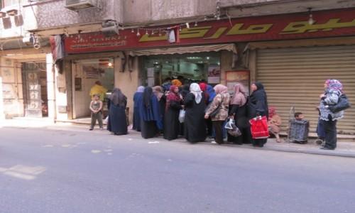 Zdjęcie EGIPT / Egipt / Kair / kolejka po miesko
