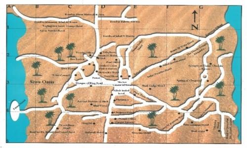 Zdjecie EGIPT / Afryka / Siwa / siwa mapa