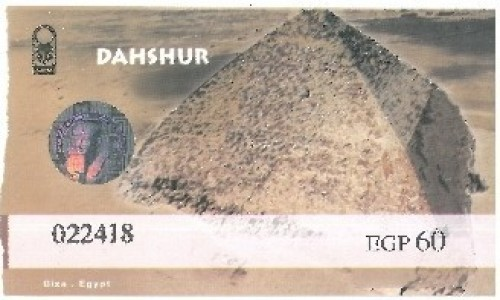 Zdjecie EGIPT / Afryka / Kair / bilet dahszur
