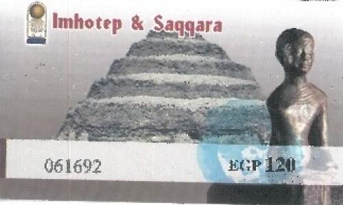 Zdjecie EGIPT / Afryka / Kair / bilet sakkara