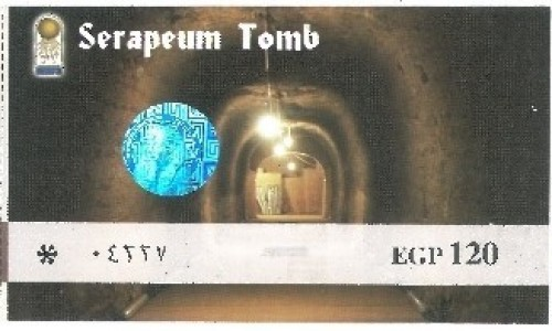 Zdjecie EGIPT / Afryka / Kair / bilet serapeum