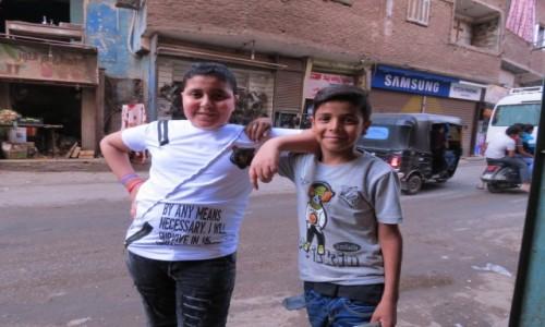 Zdjecie EGIPT / Afryka / Kair / Mokattam dzieci