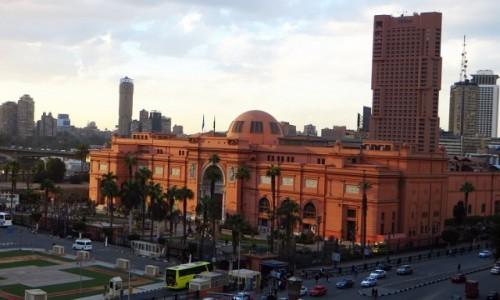 Zdjecie EGIPT / Kair / Kair / budynek muzeum egipskiego