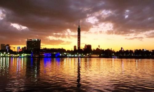 EGIPT / Kair / Kair / Nil o zachodzie słońca
