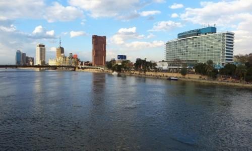 Zdjecie EGIPT / Kair / Kair - wyspa Gezira / panorama centrum Kairu