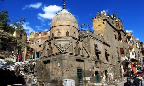 Zdjecie EGIPT / Kair / Kair - dzielnica muzułmańska / ulice Kairu