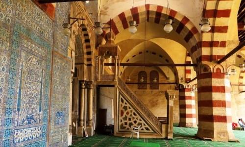 Zdjęcie EGIPT / Kair / Kair - dzielnica muzułmańska / meczet Aksunkura (Błękitny Meczet)