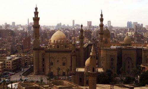 Zdjęcie EGIPT / Kair / Kair - dzielnica muzułmańska / panorama Kairu z Cytadeli