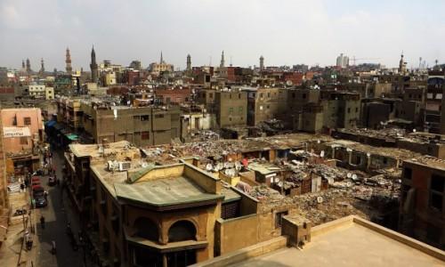 Zdjęcie EGIPT / Kair / Kair - dzielnica muzułmańska / panorama dzielnicy muzułmańskiej z Bab Zuwajla