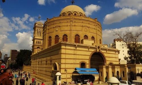 Zdjęcie EGIPT / Kair / Kair - dzielnica koptyjska / klasztor św. Jerzego