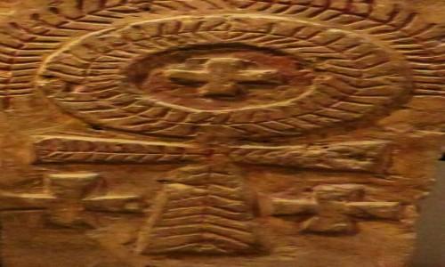 Zdjęcie EGIPT / Kair / Kair - Muzeum Koptyjskie / krzyż koptyjski z klasztoru św. Apolla w Bawit