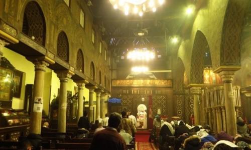 Zdjęcie EGIPT / Kair / Kair - kościół Najświętszej Maryi Panny / nabożeństwo koptyjskie