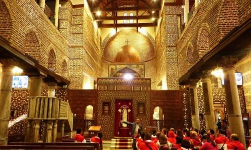 Zdjęcie EGIPT / Kair / Kair - dzielnica koptyjska / kościół św. św. Sergiusza i Bachusa