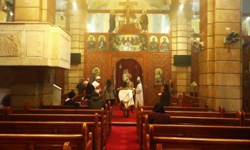 Zdjecie EGIPT / Kair / Kair - dzielnica koptyjska / kościół Maryi Niepokalanej