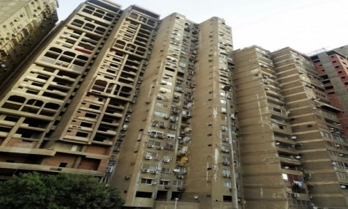 EGIPT / Kair / współczesne wieżowce / Nowy Kair nie sposób go polubić