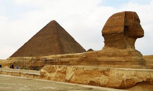Zdjęcie EGIPT / Nekropolia Memficka / Giza / Sfinks