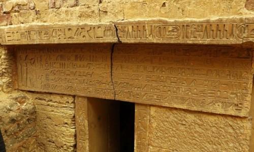 Zdjecie EGIPT / okolice Kairu / Sakkara / fragment mastaby
