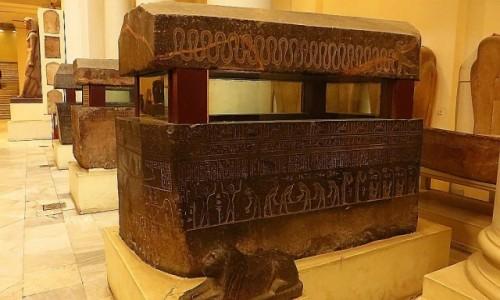 Zdjęcie EGIPT / Kair / Kair - Muzeum Egipskie / Sala sarkofagów