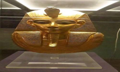 Zdjęcie EGIPT / Kair / Kair - Muzeum Egipskie / popiersie Psusennesa I