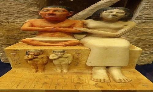 Zdjecie EGIPT / Kair / Kair - Muzeum Egipskie / karzeł Seneb z rodziną