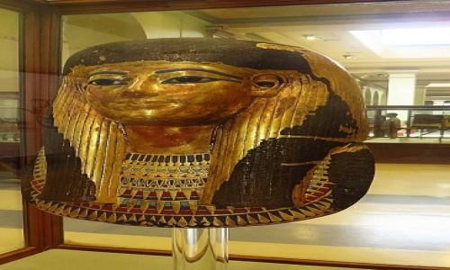 Zdjecie EGIPT / Kair / Kair - Muzeum Egipskie / maska grobowa Yuyi