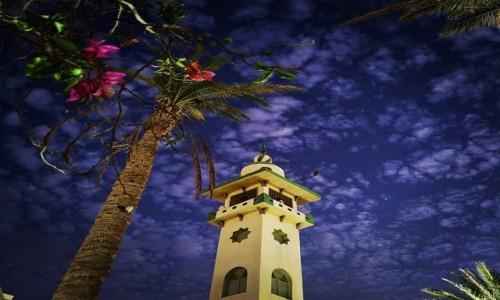 Zdjecie EGIPT / Morze Czerwone / Hurghada / meczet nocą