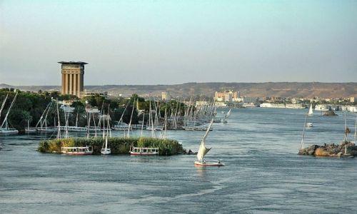 Zdjęcie EGIPT / Asuan / Nil / rozlewisko Nilu w Asuanie