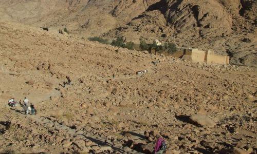 Zdjecie EGIPT / Płw. Synaj / Zejście z Góry Mojżesza / W drodze do Klasztoru Św. Katarzyny