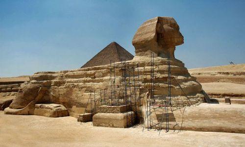 Zdjecie EGIPT / Kairu / Giza / Sfinks w remoncie :)