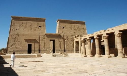 Zdjęcie EGIPT / Asuan / wyspa File / świątynia na wyspie File kultu Izydy