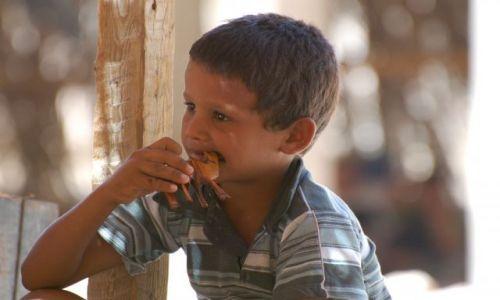 Zdjecie EGIPT / Dahab / Wioska beduińska w Dahab / mały beduin