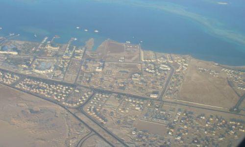 Zdjęcie EGIPT / Hurgada / samolot / z lotu ptaka