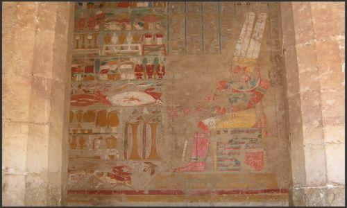 Zdjęcie EGIPT / Egipt - część wschodnia / Deir el Bahari / Światynia Hatszepsut - malowidła