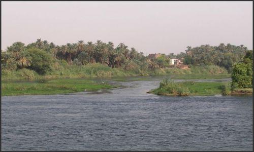 Zdjecie EGIPT / Egipt część południowa / Nil / Typowy  krajobraz  nad Nilem