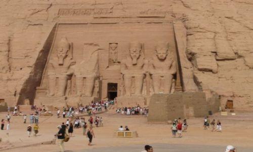 Zdjecie EGIPT / południowy Egipt / Abu Simbel / Świątynia Ramzesa II