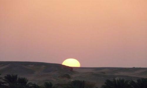 Zdjecie EGIPT / środkowy Egipt / Nil / Zachód słońca