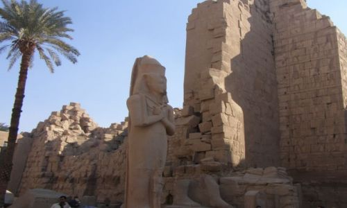 EGIPT / brak / Luksor / W Świątyni Boga Amona