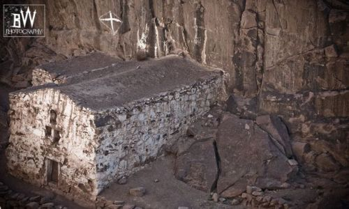 Zdjecie EGIPT / SYNAJ / góry Synaj / stary klasztor