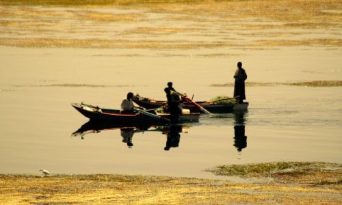 Zdjęcie EGIPT / brak / Nil / rybacy