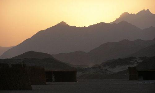 Zdjecie EGIPT / brak / pustynia / zachód słońca