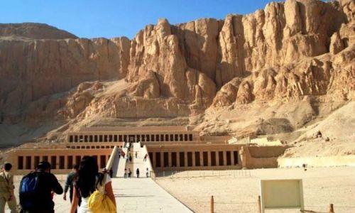 Zdjecie EGIPT / brak / Deir El-Bahari  / �wi�tynia Hatsh