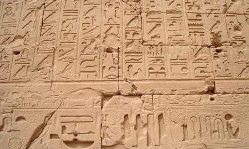 Zdjecie EGIPT / brak / Luksor - Karnak / Hieroglify 1