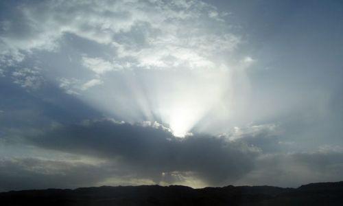 Zdjecie EGIPT / brak / Safaga / Deszczowe chmury nad pustynią