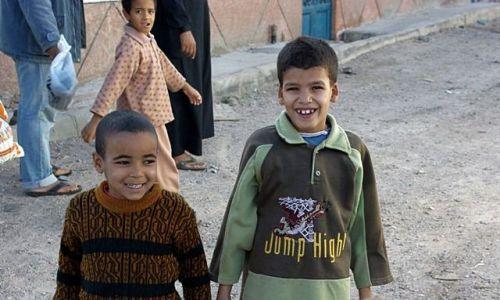 Zdjecie EGIPT / Hurghada / Safaga Down Town / Wesołe chłopaki