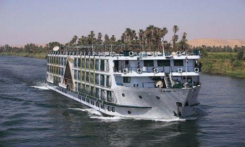 Zdjęcie EGIPT / gdzies / Nil / prom