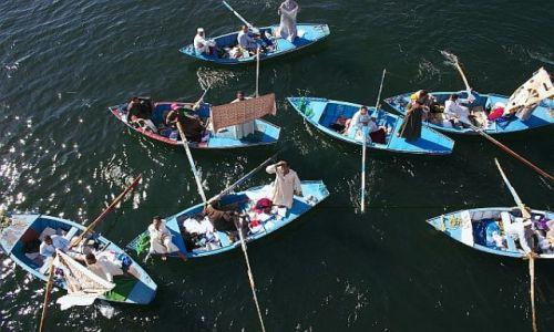 Zdjęcie EGIPT / gdzies / nil / targ na wodzie
